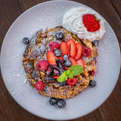 French toast served in Le Coffee Shop in Temecula Valley Southern California Wine Country
