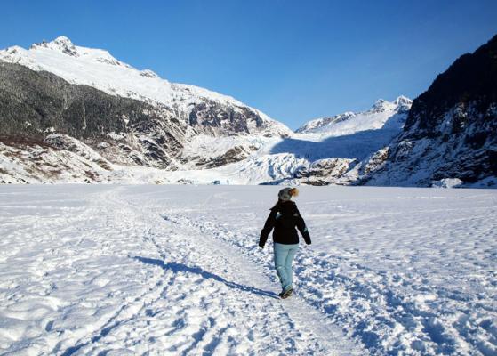 Lauren Monitz Frozen Mendenhall Lake