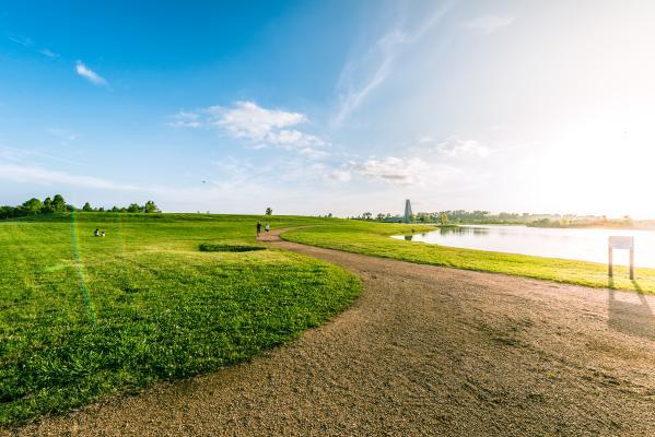 A sunny day at Sugar Land Memorial Park