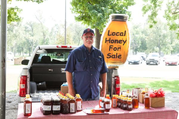 Local Honey at the Beaumont Farmer's Market