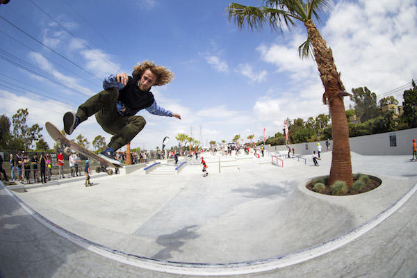 The Vans Off the Wall Skatepark in Huntington Beach