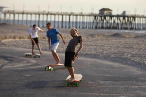 Hamboarders on the HB Boardwalk