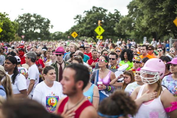 Crowd at Keep Austin Weird Fest and 5K