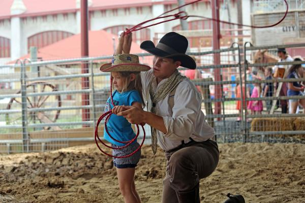 Fort Worth Herd Cow Camp girl rope