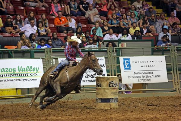 Stockyards Rodeo cowgirl 8