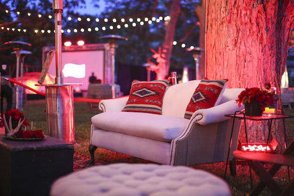 Western Chic Lounge Area/courtesy Red Velvet Events