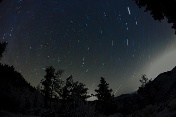 Stars rotating