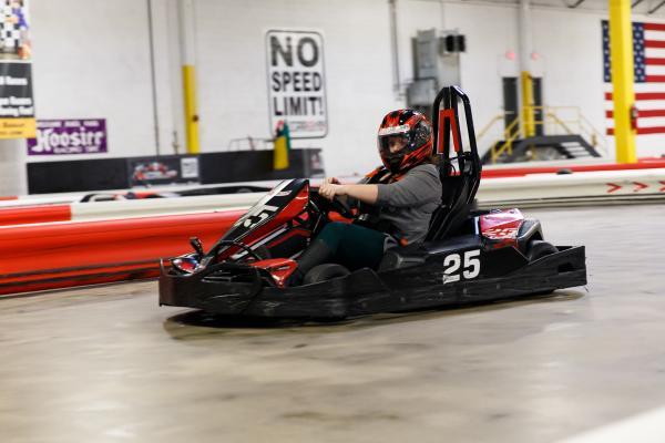 Driving at Autobahn Indoor Speedway