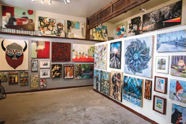 Gallery at the Austin Art Garage