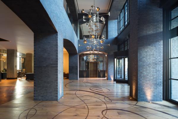 Hotel Van Zandt interior