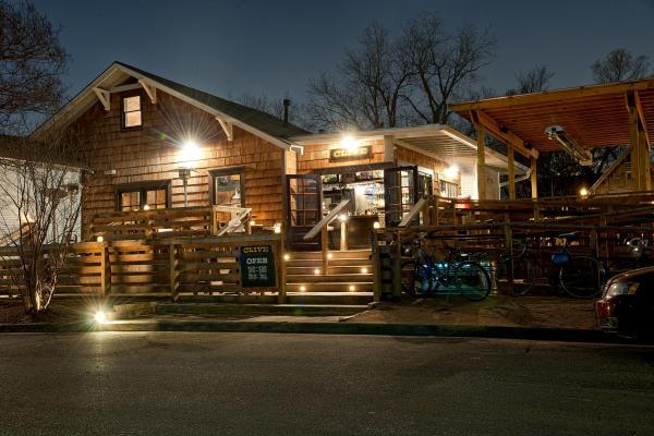Clive Bar exterior at night