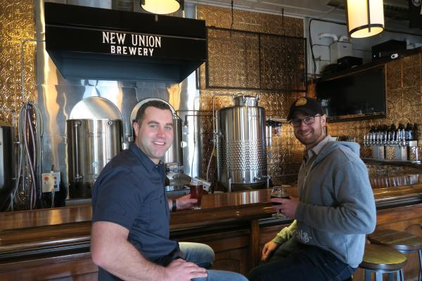 Tyler Velting and Ryan Stoepker, co-owners of New Union Brewery