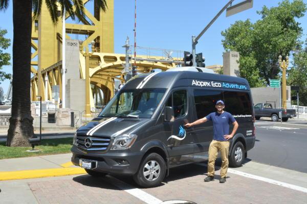 Jose Aguilar of Alopex Eco Adventures tour company in Sacramento