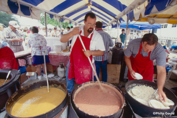 ©Philip Gould 98FEIN00752 Food Vendors 1998