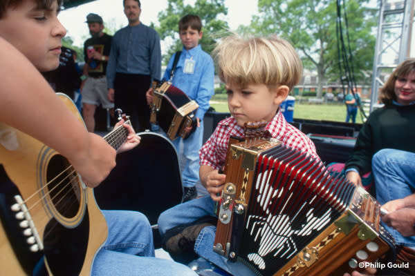 ©Philip Gould Hunter Hayes jams with Chris Stafford 1997