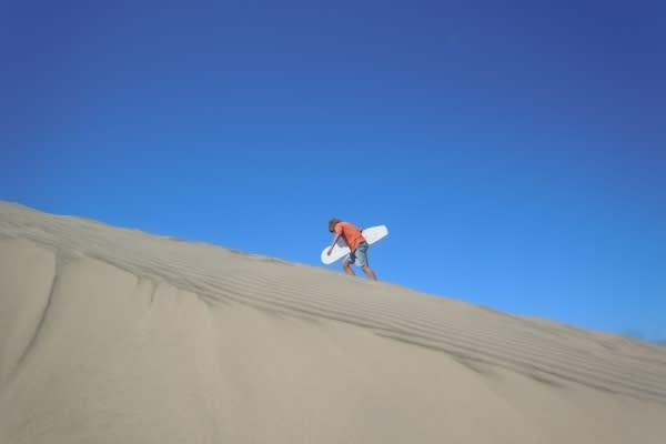 Sandboarding view by Lisa Lawton