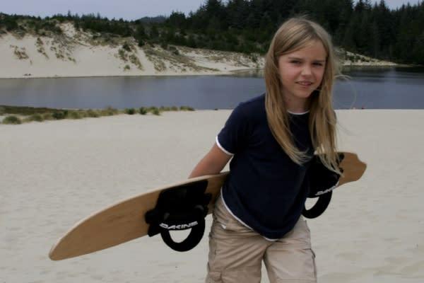 Sandboarding Child by Julia Carr