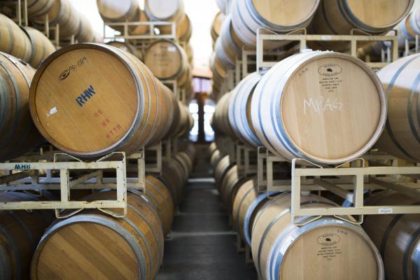 Barrels at Duchman Family Winery