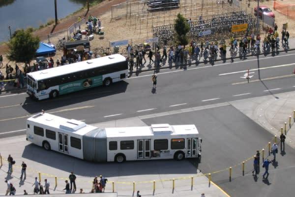 LTD Autzen Stadium Shuttle Buses By Lane Transit District