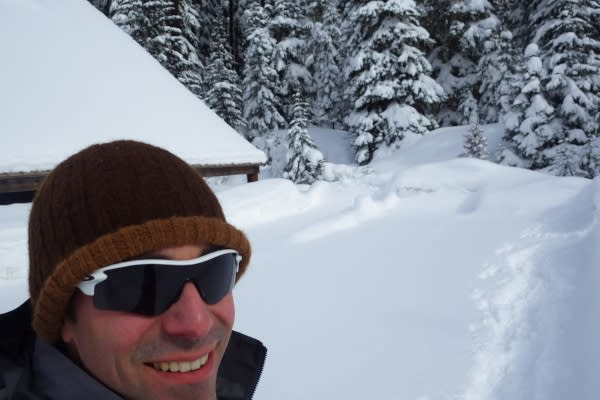 Joey Jewell Snowshoeing by Joey Jewell