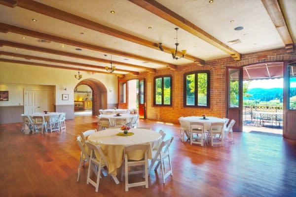 Silvan Ridge Banquet Room Courtesy of Silvan Ridge Winery