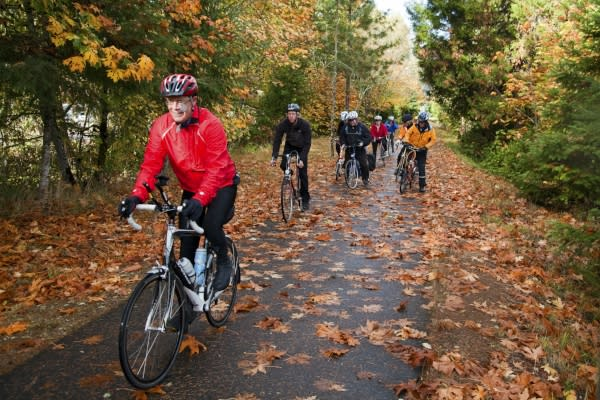 Covered Bridges Scenic Bikeway in Fall by Greg Lee
