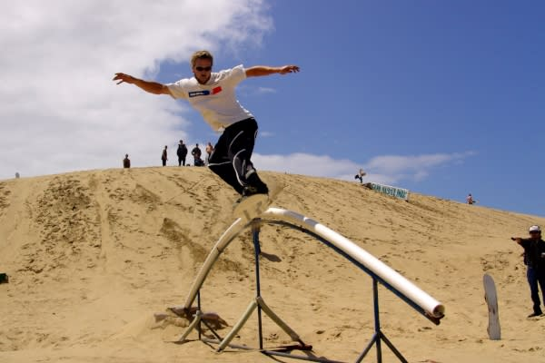 Sandboarding at Sand Master Park Courtesy of Sand Master Park