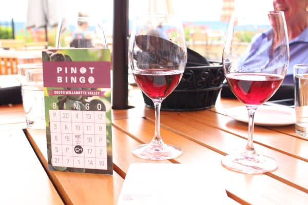 Pinot Bingo at King Estate Winery by Rebecca Adelman