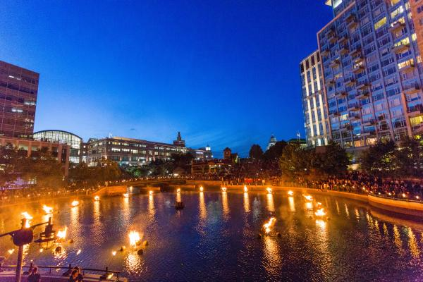 Waterfire dining