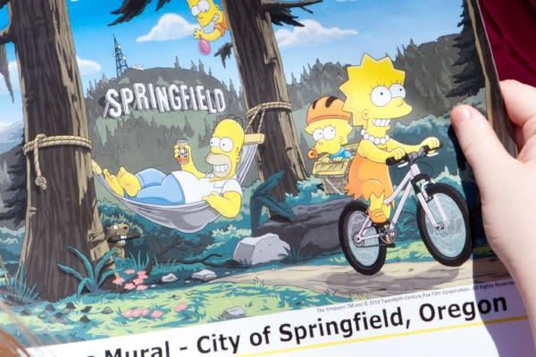Simpsons Mural by Maria Peters