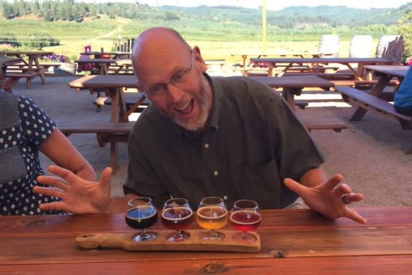 Andy Enjoying Alesong by Sally McAleer