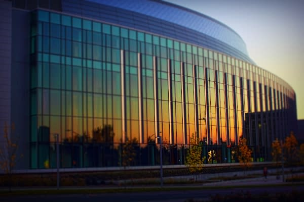 Matthew Knight Arena Sunset by Gregory Burns