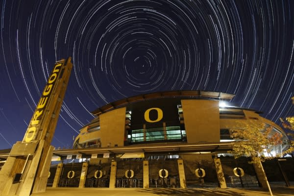 Football Stars Autzen Stadium by David Putzier