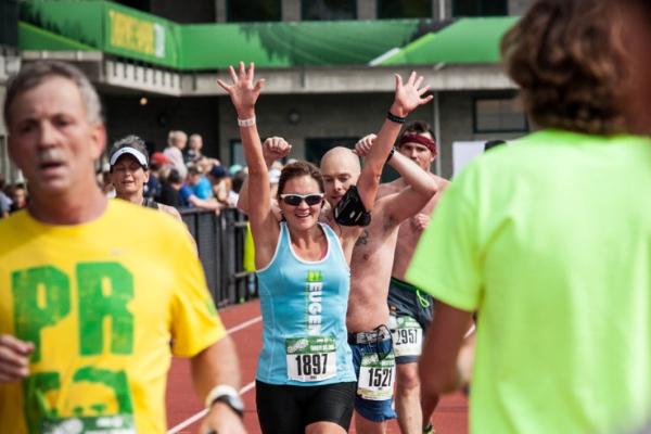 Eugene Marathon Finish