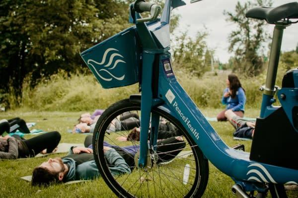 Yoga Without Walls Courtesy of PeaceHealth Bikes