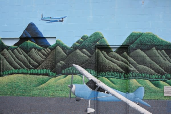 Hobby Field Airport Mural by Taj Morgan