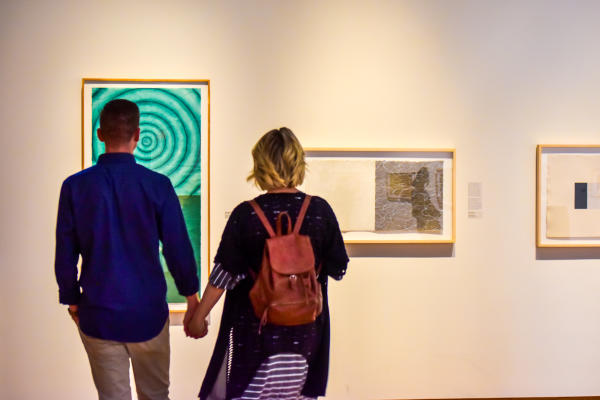 Couple at the Fort Wayne Museum of Art in Fort Wayne, Indiana