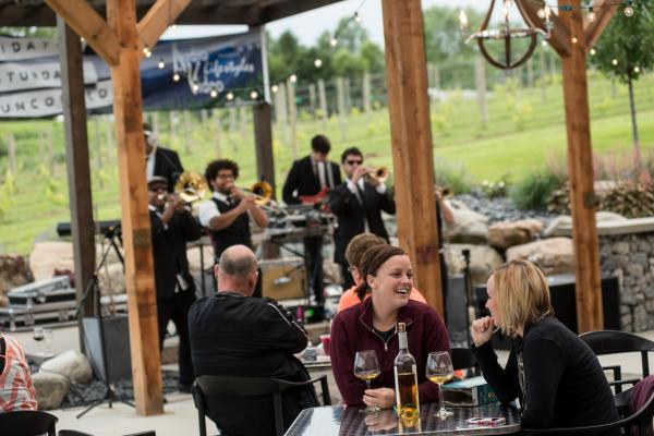 Two EE's Winery Patio - Northeast Indiana Wineries