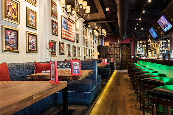 Interior of the American Social restaurant in Fort Lauderdale