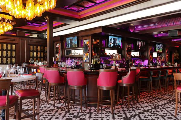 Bar inside The Balcony on Las Olas Boulevard in Fort Lauderdale