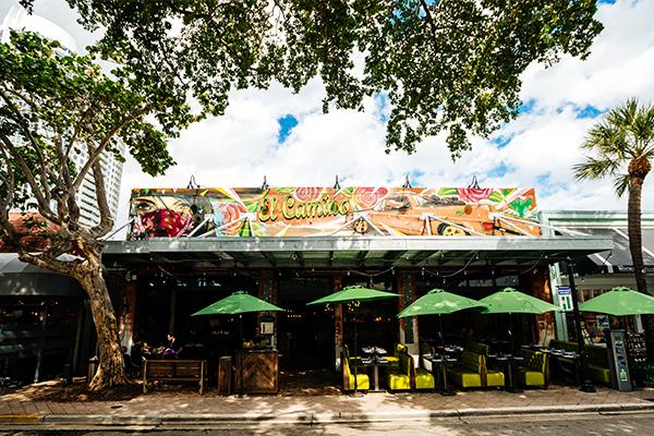 Exterior of restaurant in Fort Lauderdale on Las Olas Boulevard