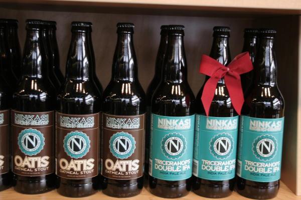 Ninkasi Holiday Beer at the Adventure Center