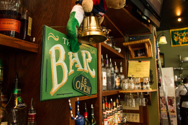 Murphy's Irish Bar with Irish Green Open Sign