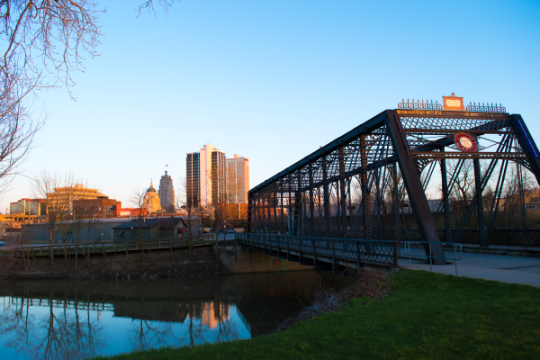Wells Street Bridge at Sunset