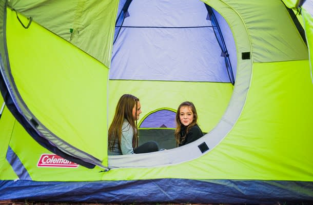 Two Kids in Tent