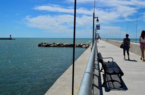 New pier at Port Stanley Beach
