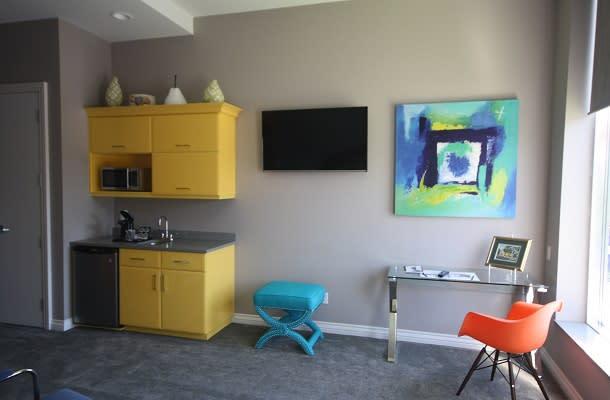 Neon room at Retro Suites
