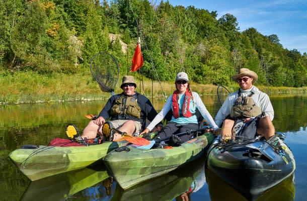 group shots in kayaks