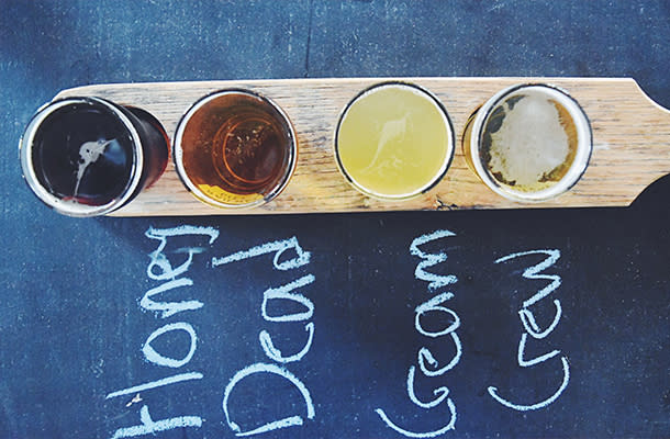 Assortment of beer at RAILWAY CITY BREWING COMPANY