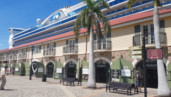 Falmouth Cruise Port: Duty Free Jewellers
